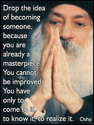 osho quote - masterpiece