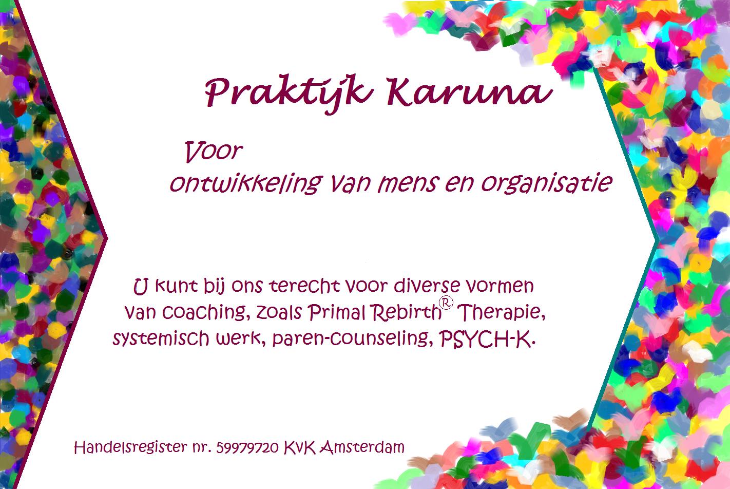 visitekaartje - Praktijk Karuna voorzijde - VistaPrint versie 30dec2015