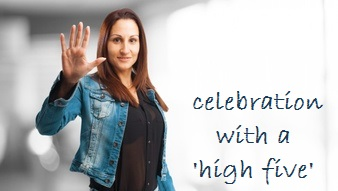 high-five Engels