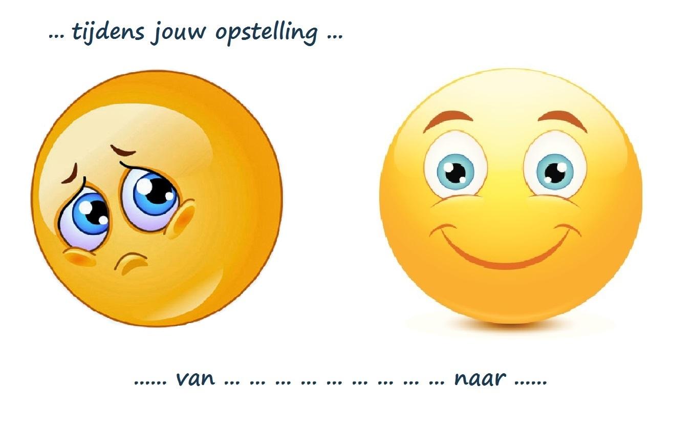 emoticon van triest naar blij tijdens opstelling v2