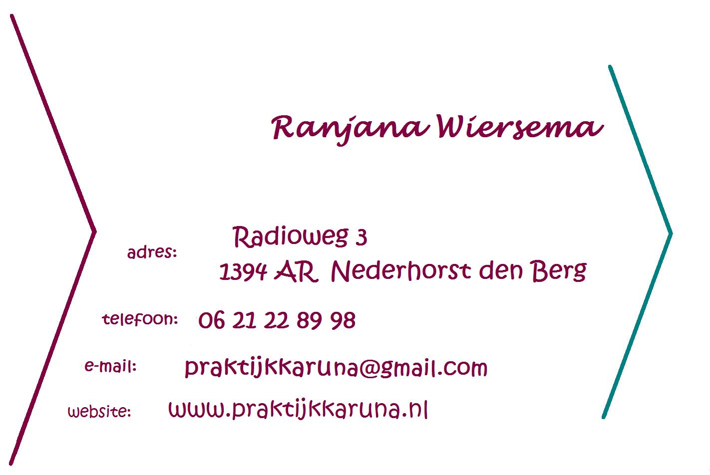 visitekaartje - Praktijk Karuna achterzijde