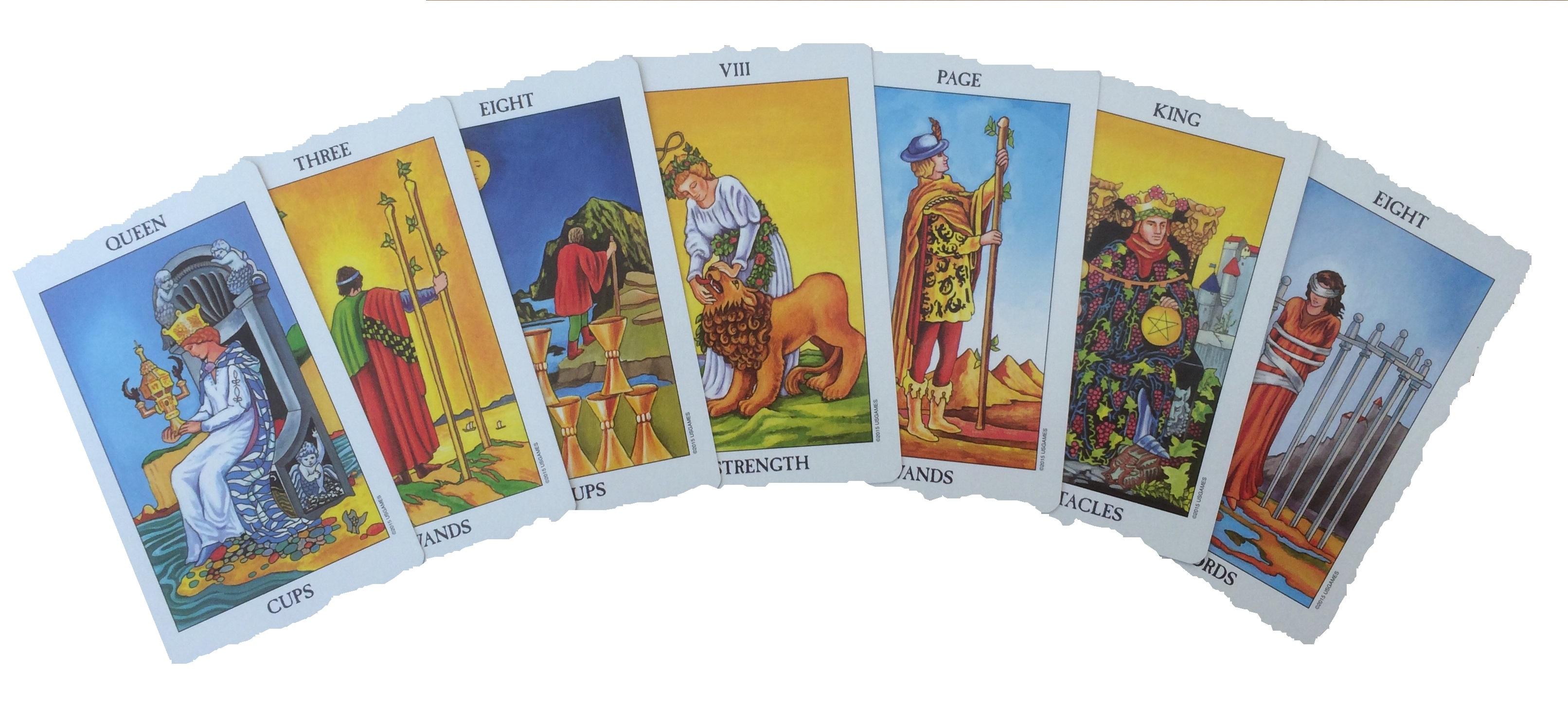 Selectie RW Tarot kaarten